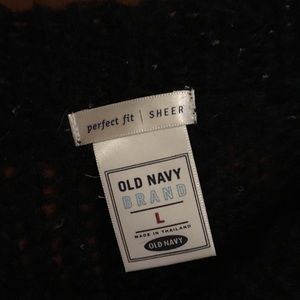 Old Navy Sweaters - Black sheer sweater sz L